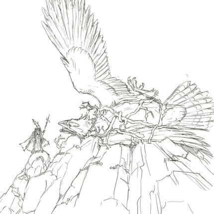 Eagle Captured Sketch