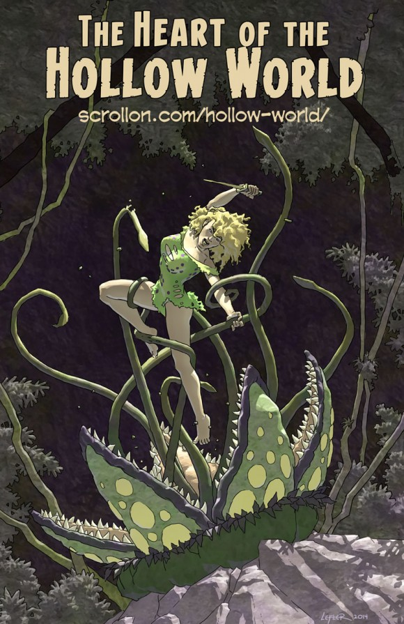 """""""Twen and the Carnivorous Plant"""" The Heart of the Hollow World by Doug Lefler"""