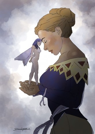 Woman and fairy