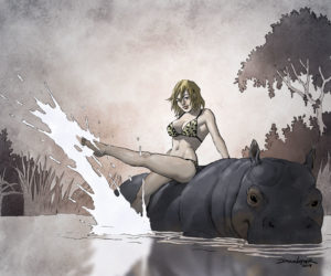 Girl with Hippo